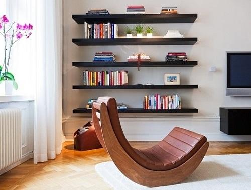 Bookshelves to enhance beauty of home.