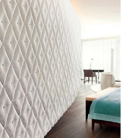 Fabricated white wall decoration for home.