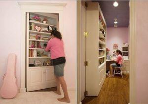 Faux Book Case as secret door for home room.