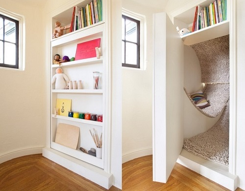 Kids Shelf for hidden room.