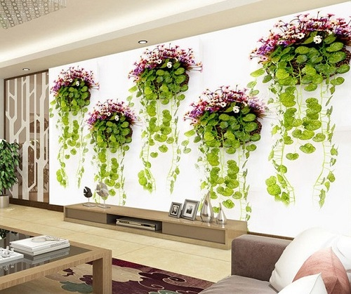 Plants as texture for home interior decoration.