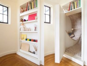 Reading Nook as hidden door.