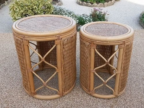 Two drum coffee table for living room.
