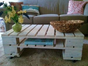 Wooden pallets coffee table for living room