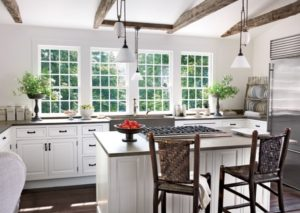 Awesome white-grey kitchen interior design