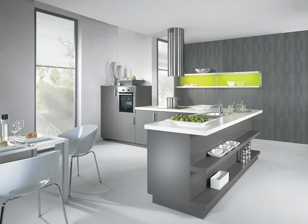 Grey kitchen designs ideas cabinets photos for Kitchen ideas grey and white