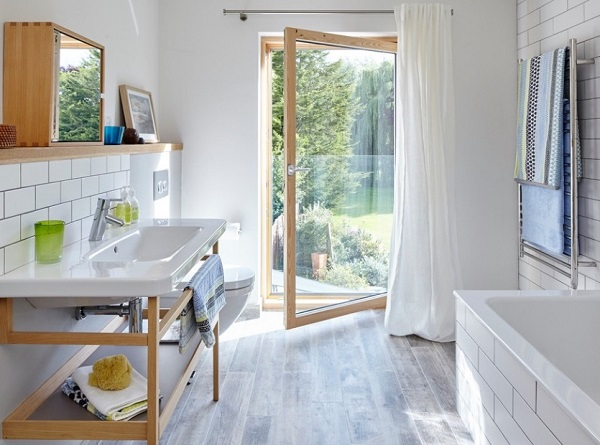 Change bathroom design layout to lovely space to attract home buyers