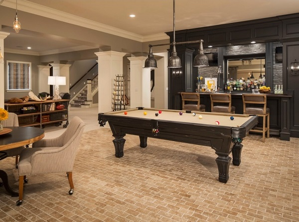 Decorate basement before selling home