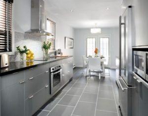 Elegant gray kitchen decorating ideas.