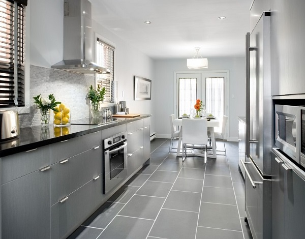 Elegant gray kitchen decorating ideas.