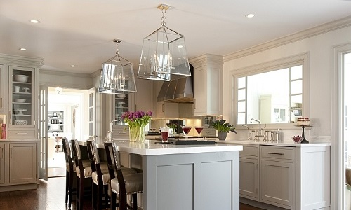 Grey kitchen interior design pictures by homedecorbuzz