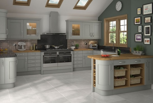 Latest gray kitchen design trends.