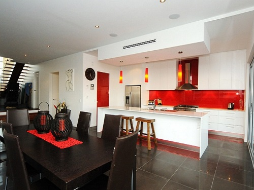 Latest red kitchens trend