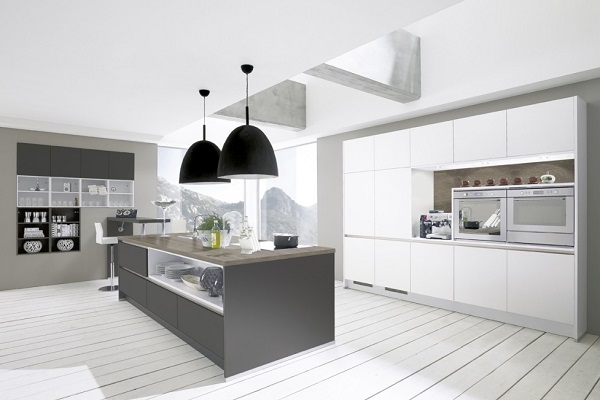 Modern Gray-white kitchen design