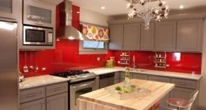 Red Kitchen Designs, Ideas, Cabinets, Photos