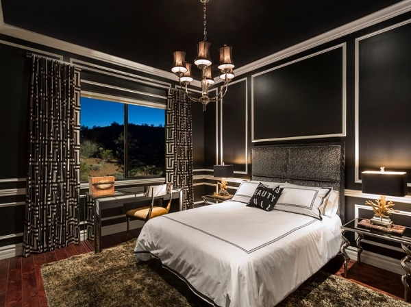 beautiful black bedroom design picture