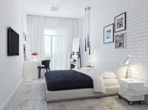Beautiful white bedroom interior design
