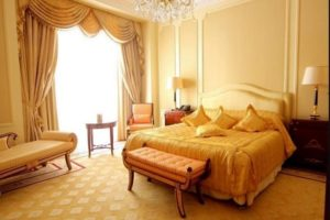 Beautiful yellow bedroom interior design