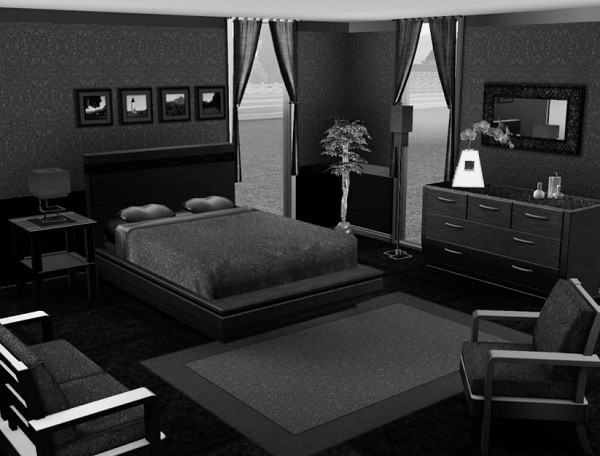 black bedroom designs, ideas, photos