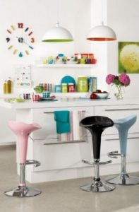 Colorful kitchen design style