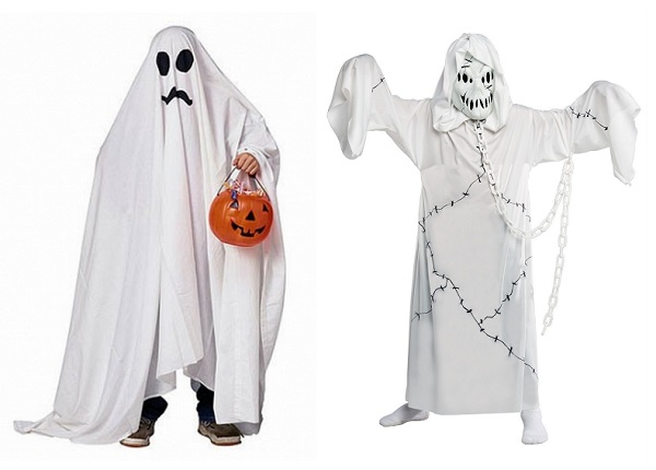 funny ghosts shape for halloween day