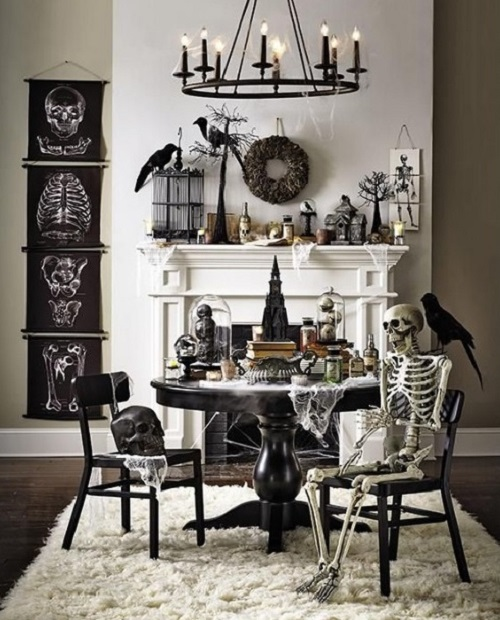 Ghost figures to decorate home for halloween day