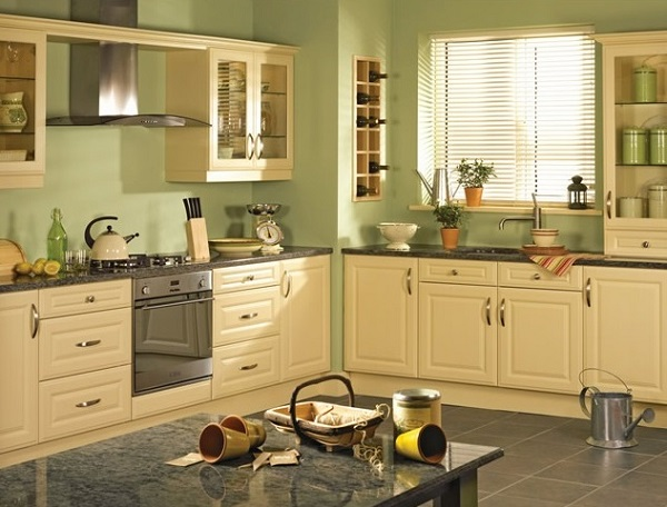 Yellow and green color combo kitchen design ideas for Yellow green kitchen ideas
