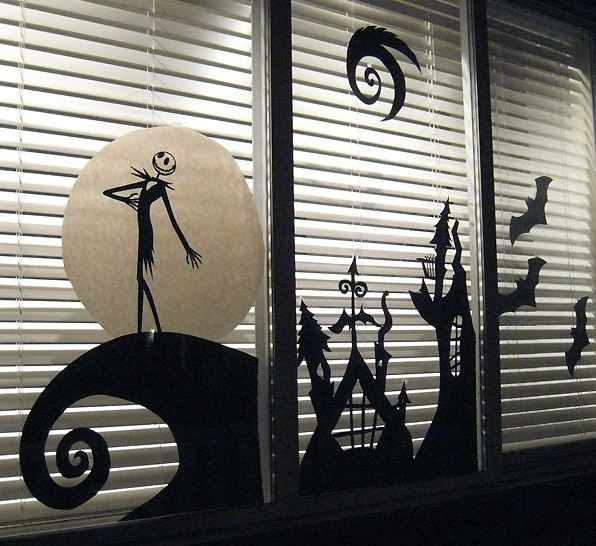 Halloween haunting window