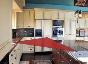 Kitchen triangle adds style to kitchen decor