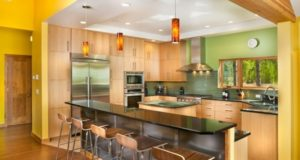 Yellow and Green Color combo Kitchen Design Ideas