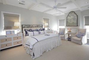 Luxury white bedroom decor
