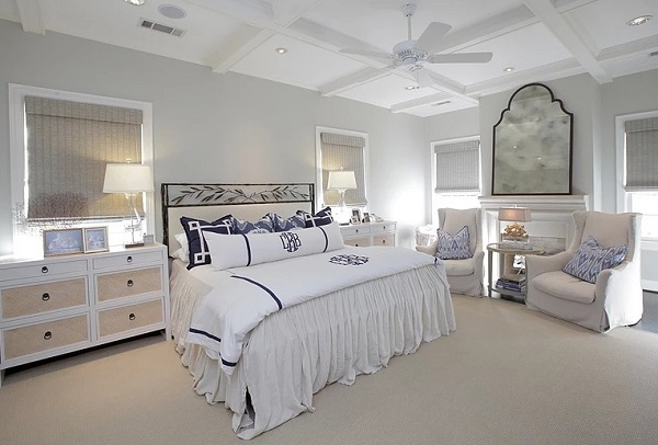 Luxury white bedroom decor
