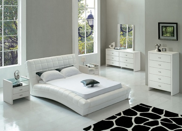 Modern white bedroom furniture design
