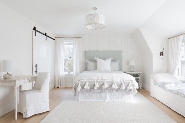 Pure White Bedroom With Amazing Furniture