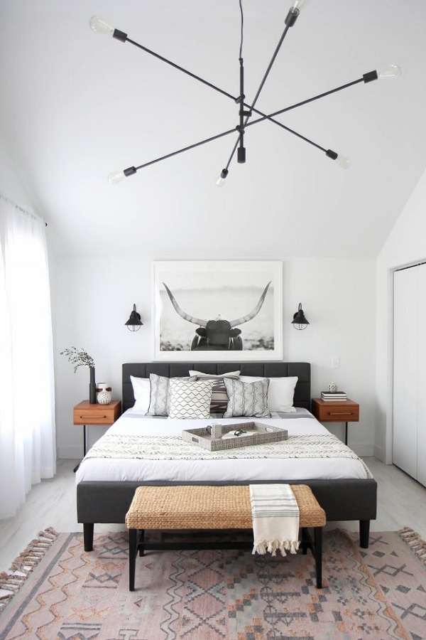 White bedroom design photo by homedecorbuzz