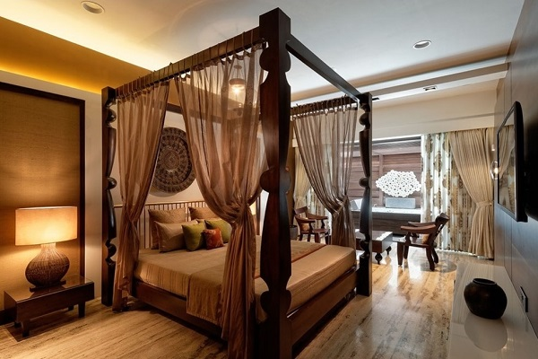 Amazing brown bedroom interior design