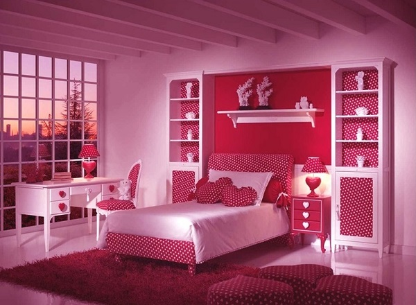 Awesome Pink Color Bedroom Decor Ideas
