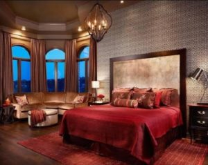 Awesome red-black bedroom interior decor
