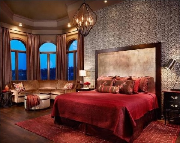 Awesome Red Black Bedroom Interior Decor
