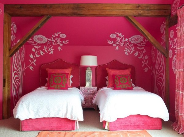 beautiful pink bedroom interior design for teen girls