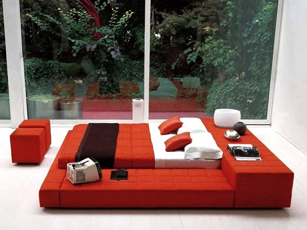 Big red bedroom design concept picture