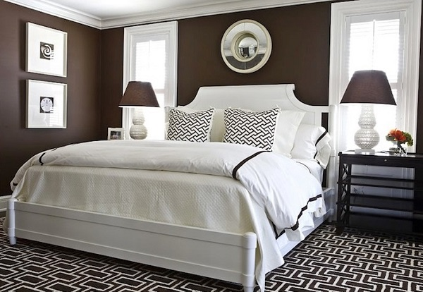 Brown bedroom decor pictures