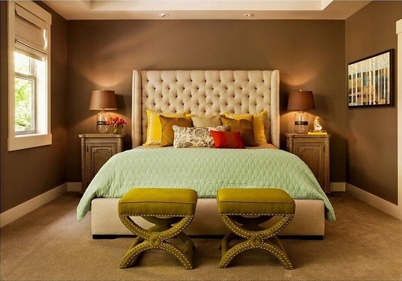 Classy brown bedroom design