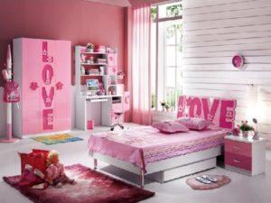 Cute pink bedroom for princess