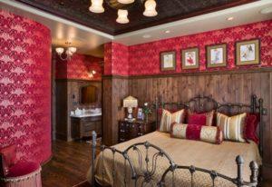 elegant red bedroom decorating ideas picture