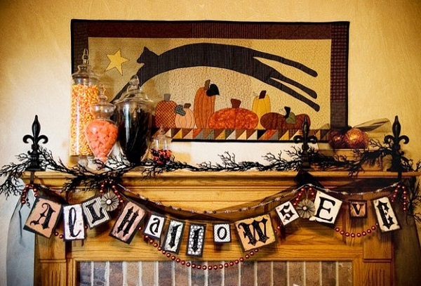 Foyer decor for halloween