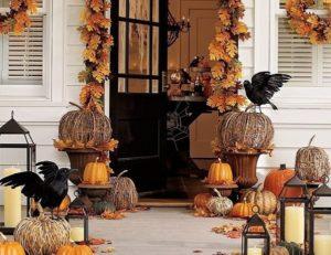 Front door decor for halloween day