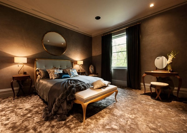 Latest bedroom design with brown color theme