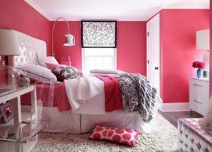 latest pink color bedroom design