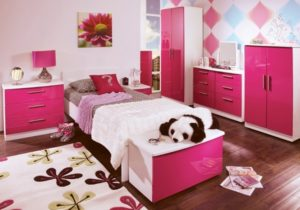 little girl pink bedroom design